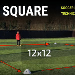 Soccer Technical Challenge - 1v1 Square
