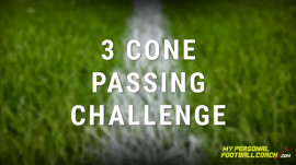 Soccer skills 3 cone passing challenge