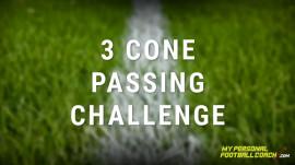 Soccer skills 3 cone passing challenge