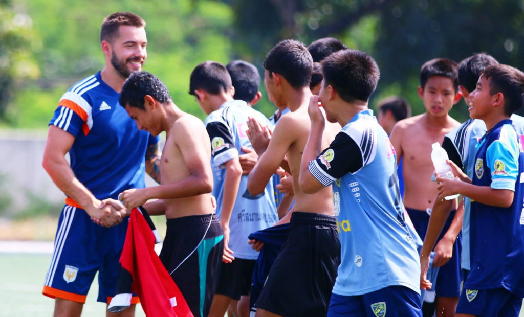 Andy Clawson coaching at Bangkok FC
