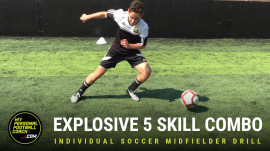 Individual Soccer Midfielder Drill