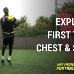 Explosive first touch chest and shoot