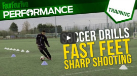 Soccer shooting drill: Fast feet, sharp shooting