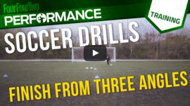 Soccer shooting drill: Finish from 3 angles