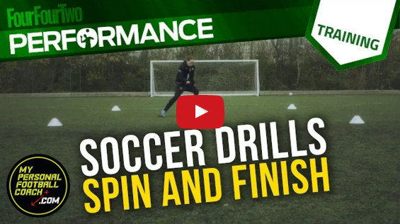 Soccer Shooting Drill: Spin & Finish