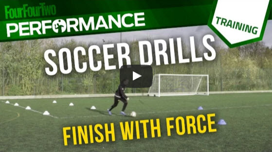 Soccer Skills Shooting Practice: Finish your force