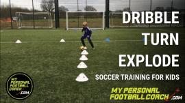 Kids Soccer Training Drill - Dribble Turn Explode