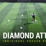 Individual Soccer Practice - Diamond Attack