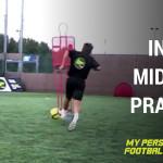 Iniesta midfield practice