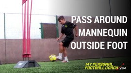 Passing around mannequin with outside foot