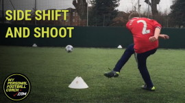 Soccer Training Drill For Youth - Side Shift & Shoot