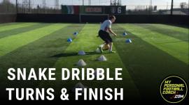 Snake Dribble, Soccer Turn & Finish