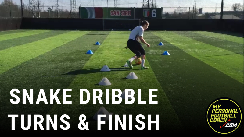 Snake Dribble, Soccer Turn & Finish
