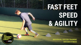 Individual Soccer Training - Fast Feet Speed Agility Combo
