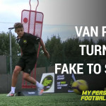 Van Persie turn with fake to shoot