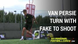 Van Persie turn with fake to shoot