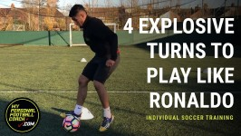 Individual Soccer Training - 4 explosive turns to play like Ronaldo