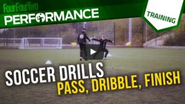 Soccer Skills Shooting Practice: Pass Dribble Finish