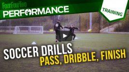 Soccer Skills Shooting Practice: Pass Dribble Finish