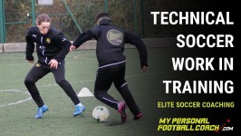 Technical soccer work in training: Working efficiently and effectively to develop soccer players
