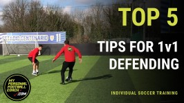 Online Soccer Training - Top 5 tips for 1v1 defending