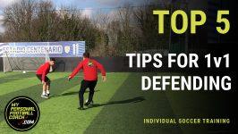 Online Soccer Training - Top 5 tips for 1v1 defending