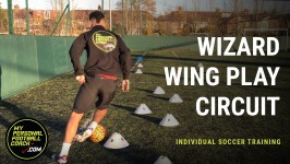 Individual Soccer Training Practice - Wizard Wing Play Circuit