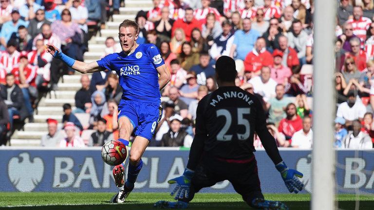 Jamie Vardy vs Sunderland