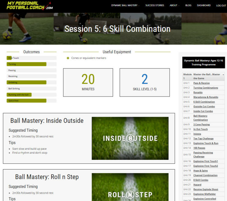Elite Soccer Training Programme Dynamic Ball Mastery Session