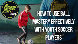 Youth Soccer Player in training with Saul Isaksson-Hurst